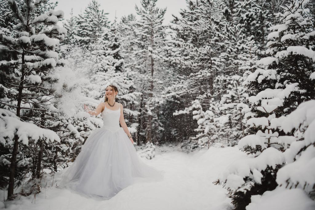 Trash the Dress Winter Schnee 006 - After Wedding Shooting im Winter