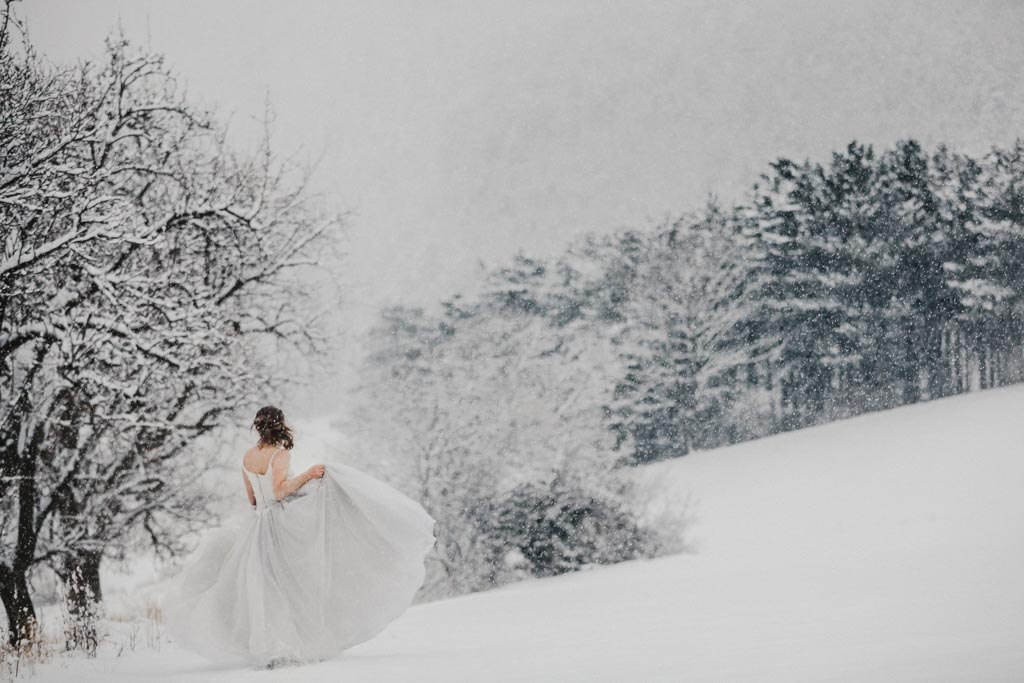Trash the Dress Winter Schnee 019 - After Wedding Shooting im Winter