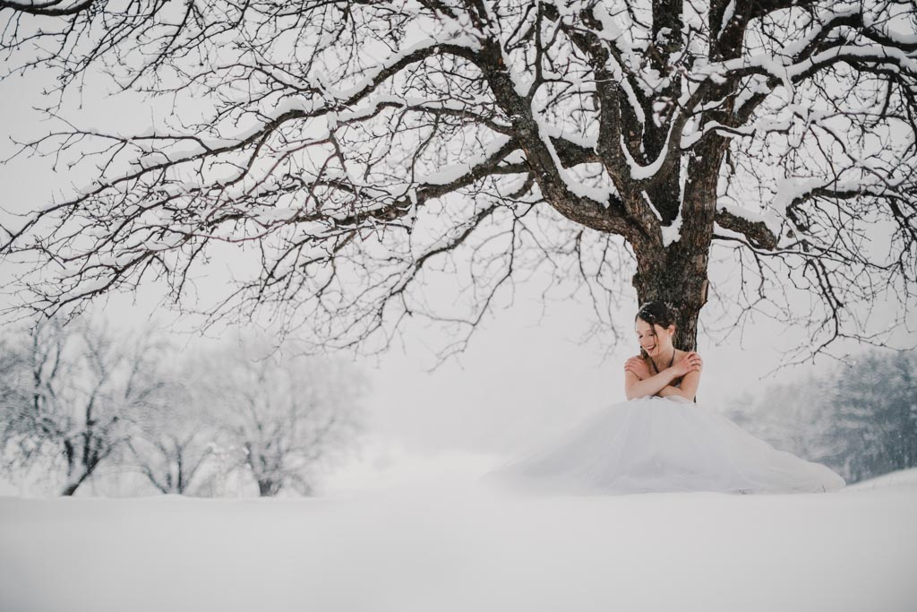 Trash the Dress Winter Schnee 027 - After Wedding Shooting im Winter